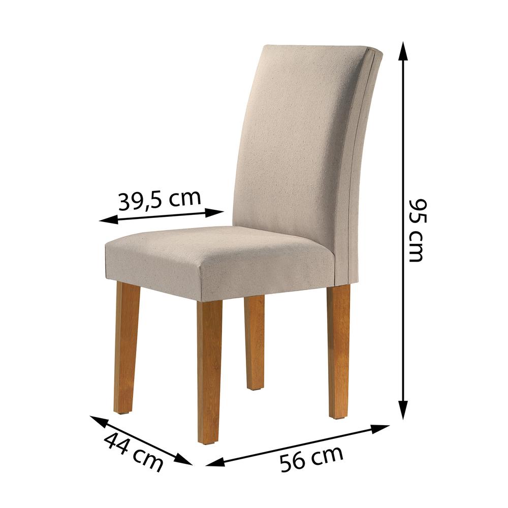 Conjunto 2 Cadeira Classic  - Ype/Linho - Cel Móveis