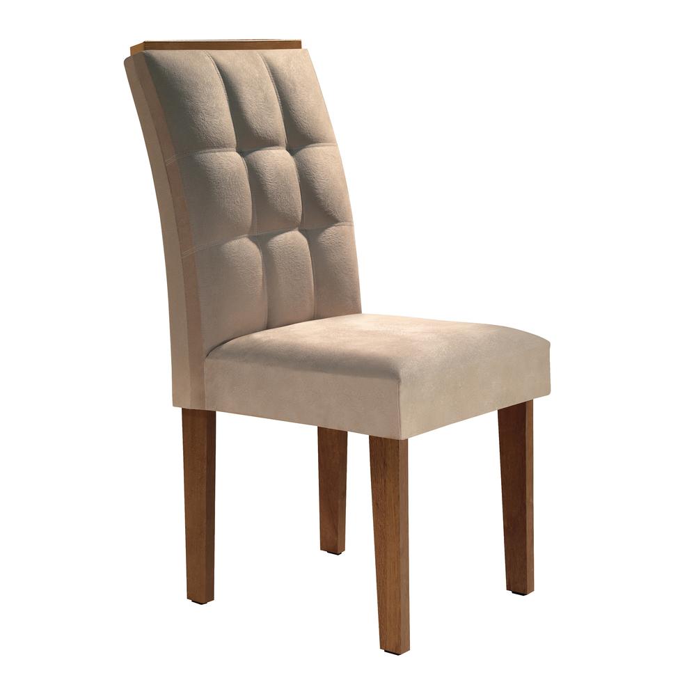 Conjunto 2 Cadeira Dakota  - Chocolate/Suede Pena - Cel Móveis