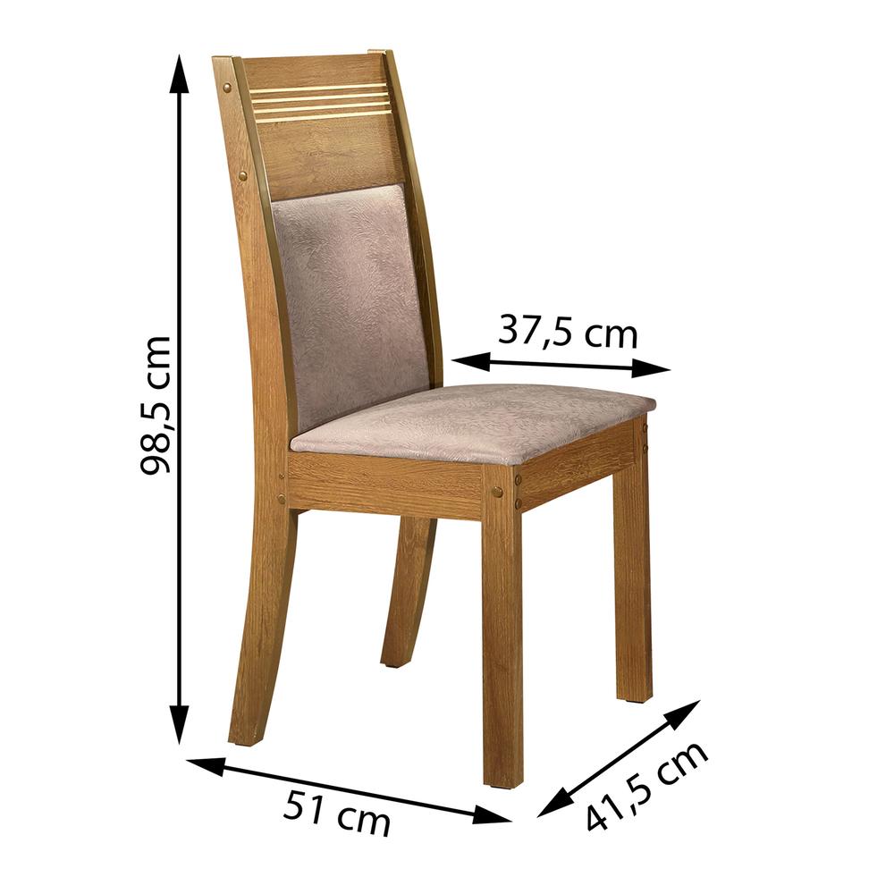 Conjunto 2 Cadeira Ravena  - Ype/Suede Pena - Cel Móveis