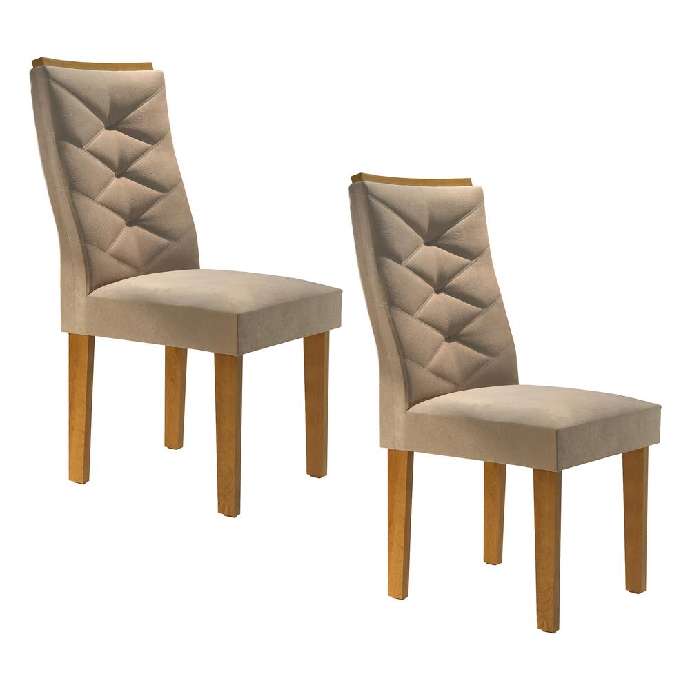 Conjunto 2 Cadeira Riviera - Ype/Suede Pena - Cel Móveis