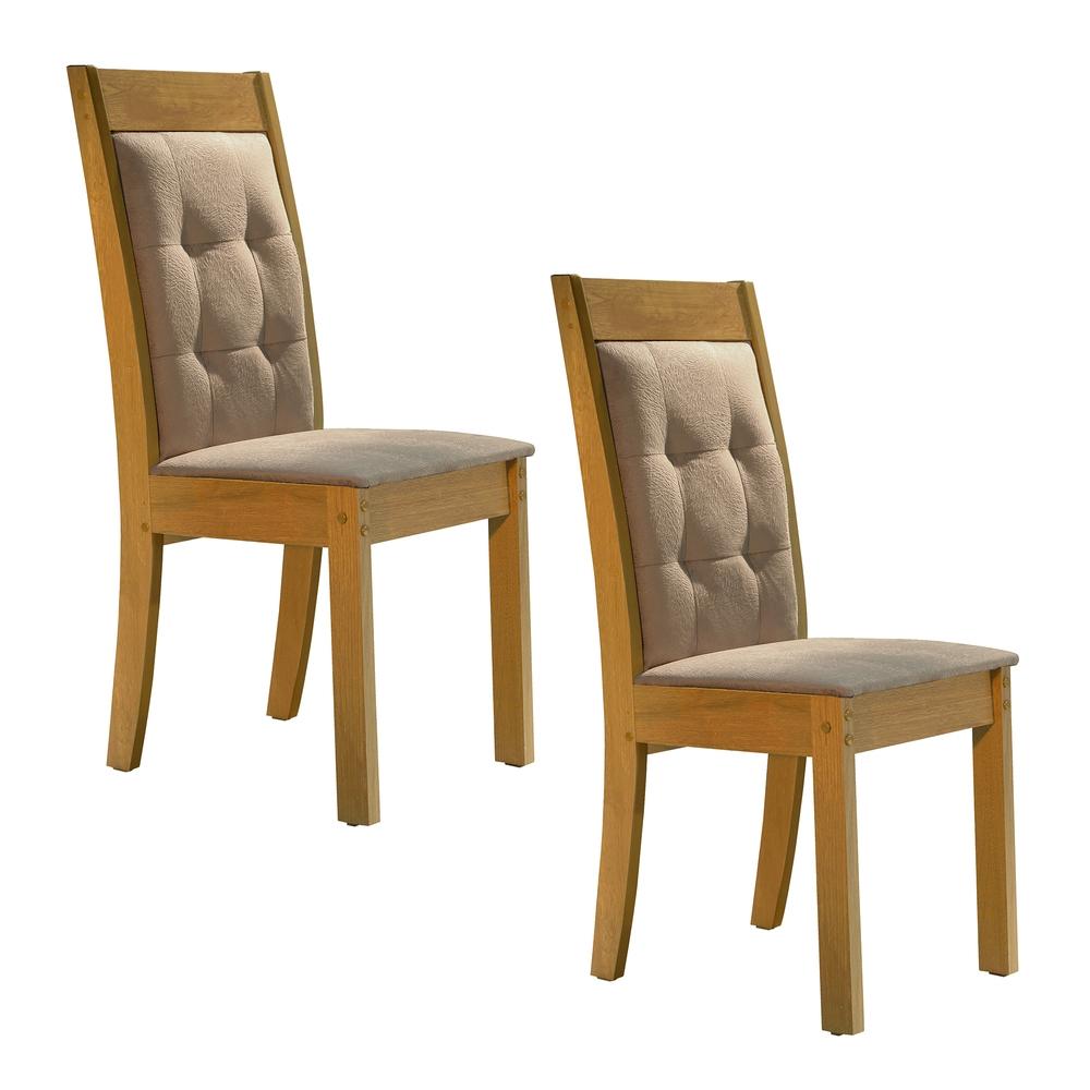 Conjunto 2 Cadeira Rubi  - Ype/Suede Pena - Cel Móveis