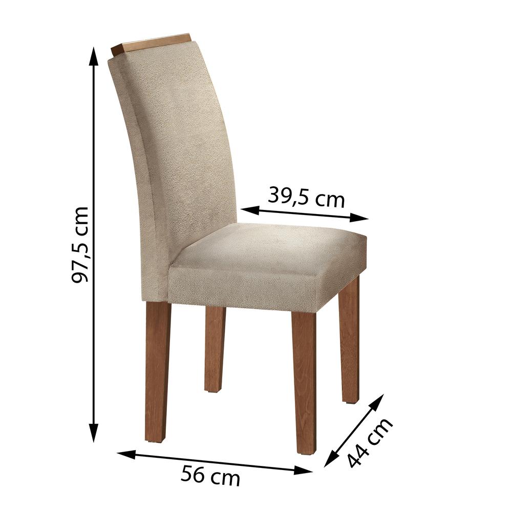 Conjunto 2 Cadeira Sevilha  - Chocolate/Jacar - Cel Móveis