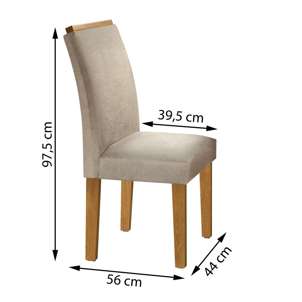 Conjunto 2 Cadeira Sevilha  - Ype/Jacar - Cel Móveis