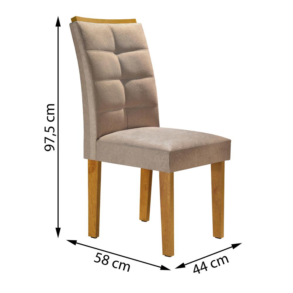 Conjunto 2 Cadeira Villa Rica - Ype/Suede Pena - Cel Móveis