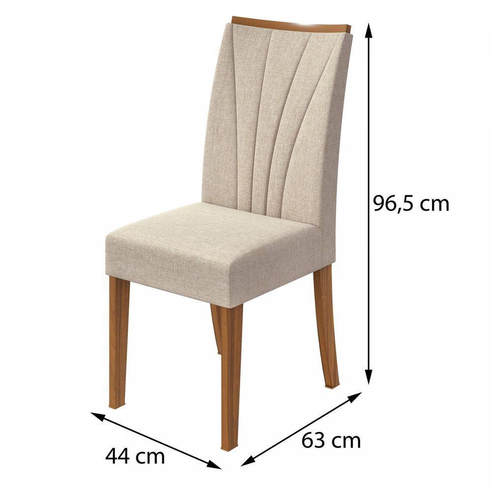 Conjunto 2 Cadeiras Apogeu Rovere Naturale/Linho Rinzai Bege - Lopas