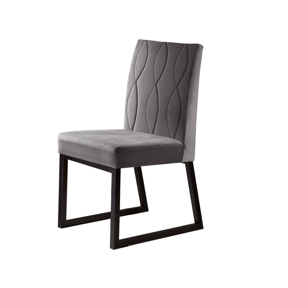 Conjunto 2 Cadeiras Atena Café/Veludo Camurça - MAIS DECOR