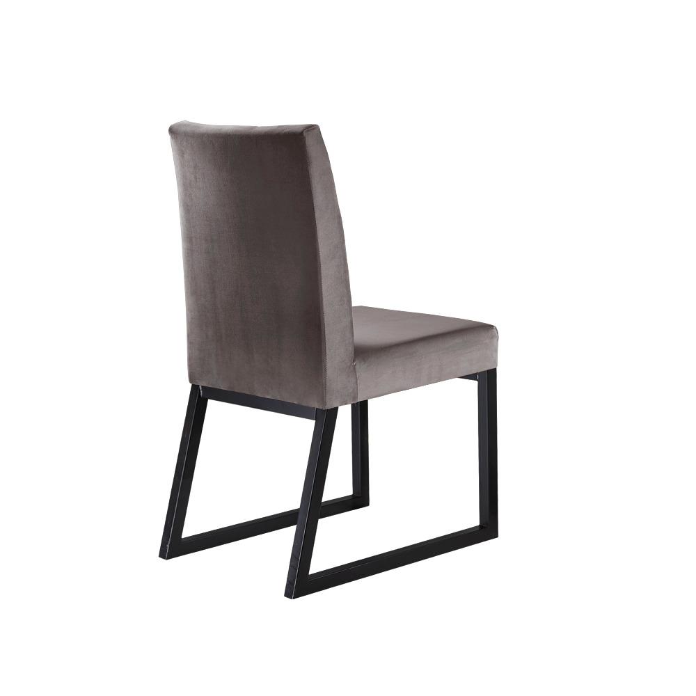 Conjunto 2 Cadeiras Atena Grafite/Veludo Camurça - MAIS DECOR