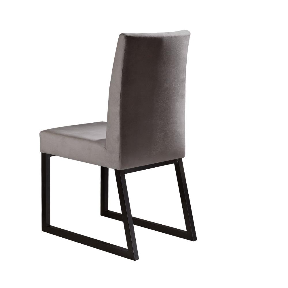 Conjunto 2 Cadeiras Itália Café/Veludo Camurça - MAIS DECOR
