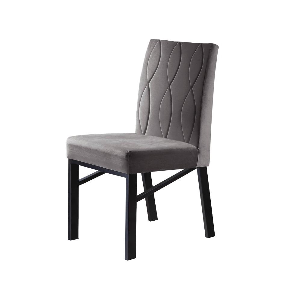 Conjunto 2 Cadeiras Zeus Grafite/Veludo Camurça - MAIS DECOR