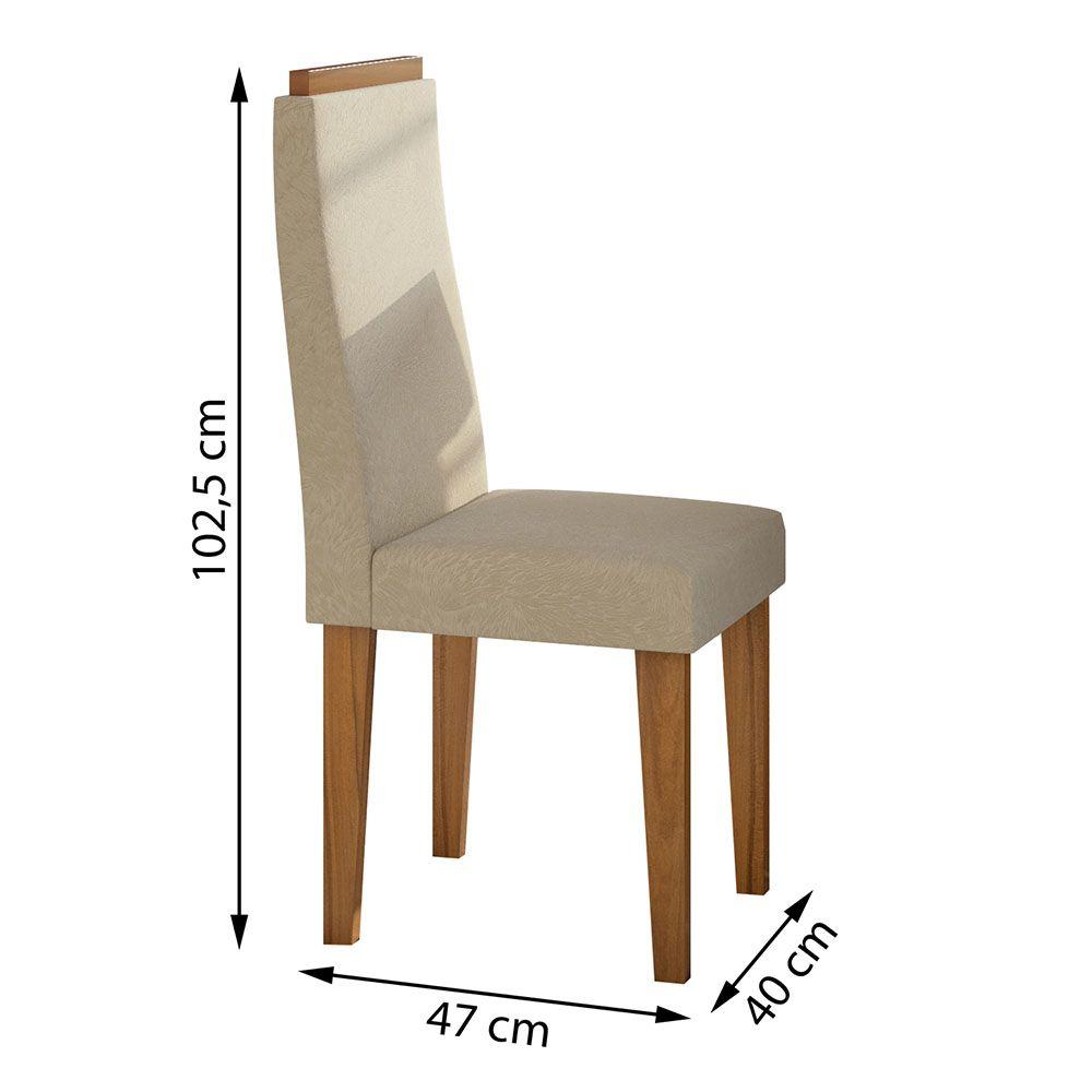 Conjunto Mesa Nevada Plus 100 Tampo E Vidro Off White 4 Cadeiras Dafne Rovere Naturale/Veludo Naturale Creme - Lopas