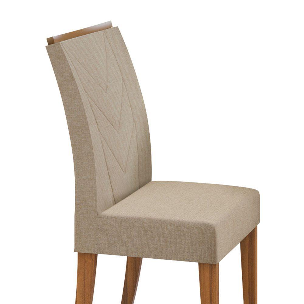 Conjunto Mesa Nevada Plus 130 Tampo E Vidro Off White 8 Cadeiras Atacama Rovere Naturale/Linho Rinzai Bege - Lopas