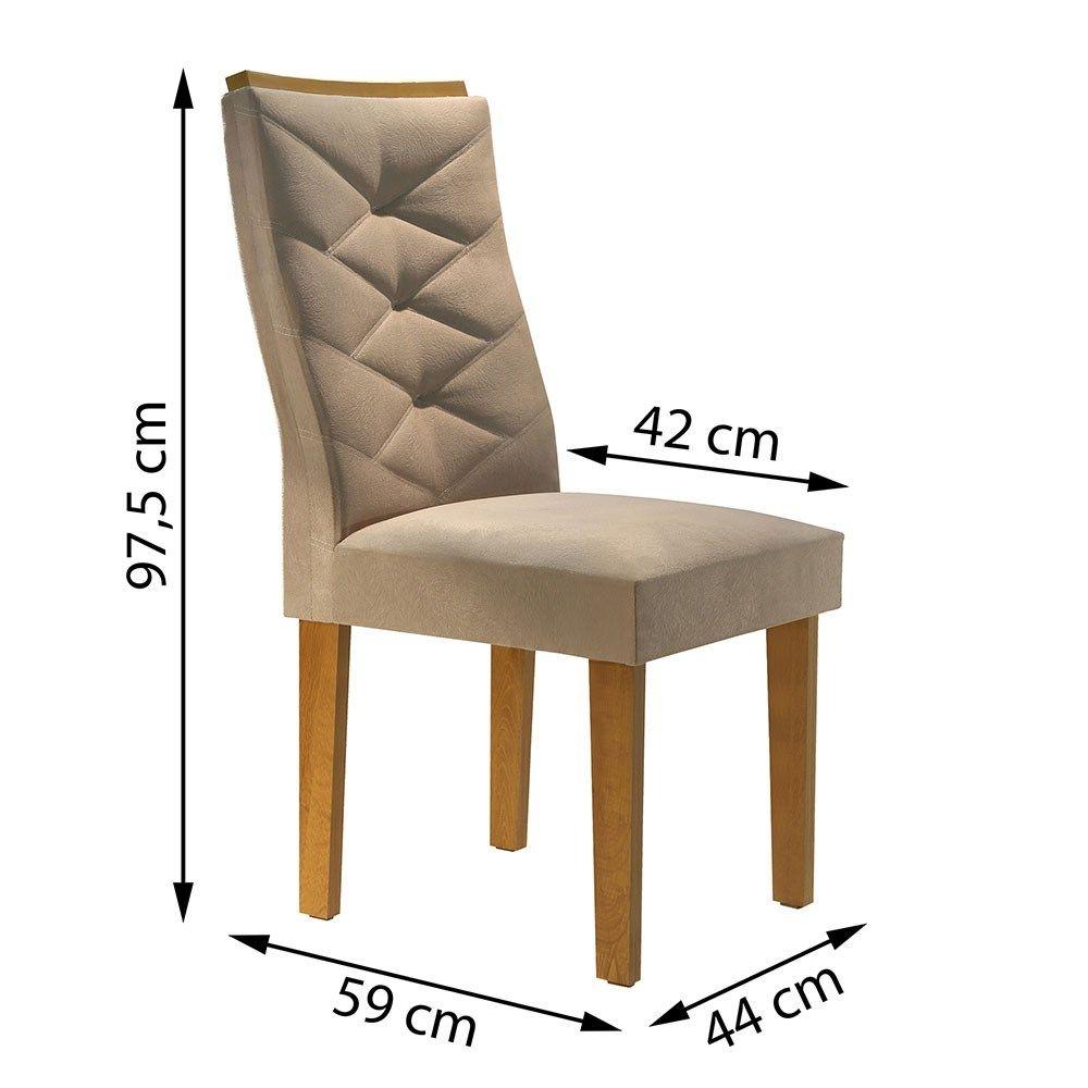 Conjunto Mesa Riviera Tampo Slim Vidro Off White Plus 8 Cadeiras Riviera  - Ype/Off White/Suede Pena - Cel Móveis