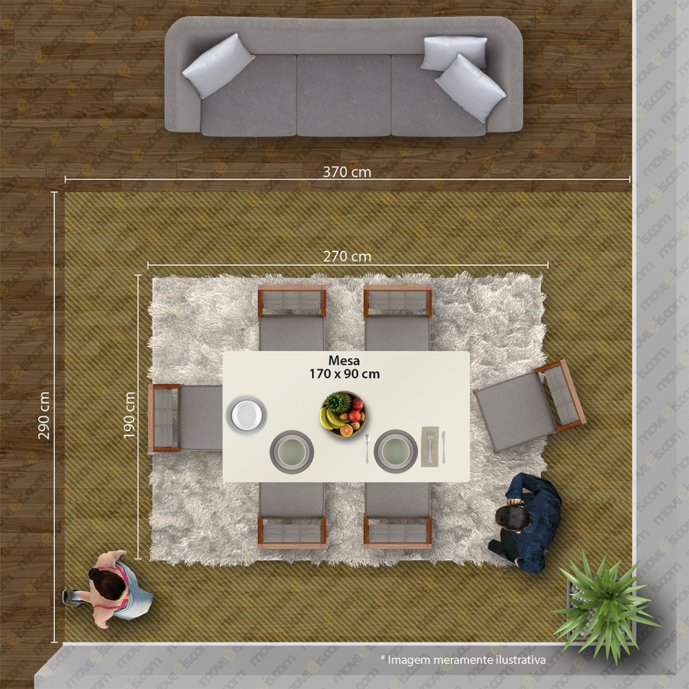 Conjunto Mesa Rock Plus 170 Tampo E Vidro Off White 6 Cadeiras Apogeu Rovere Naturale/Linho Rinzai Bege - Lopas