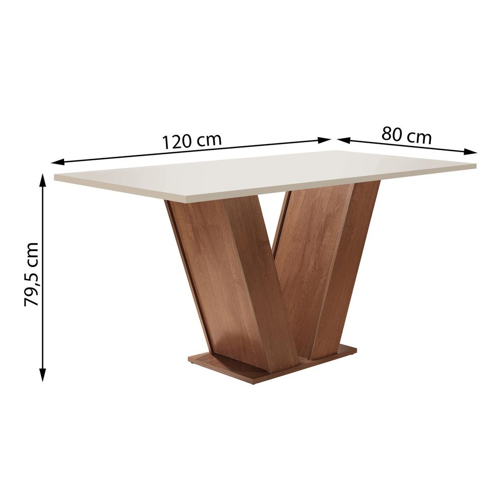 Conjunto Sala De Jantar Mesa Classic 1,20X0,90 Com 4 Cadeiras Classic Chocolate - Cel Móveis
