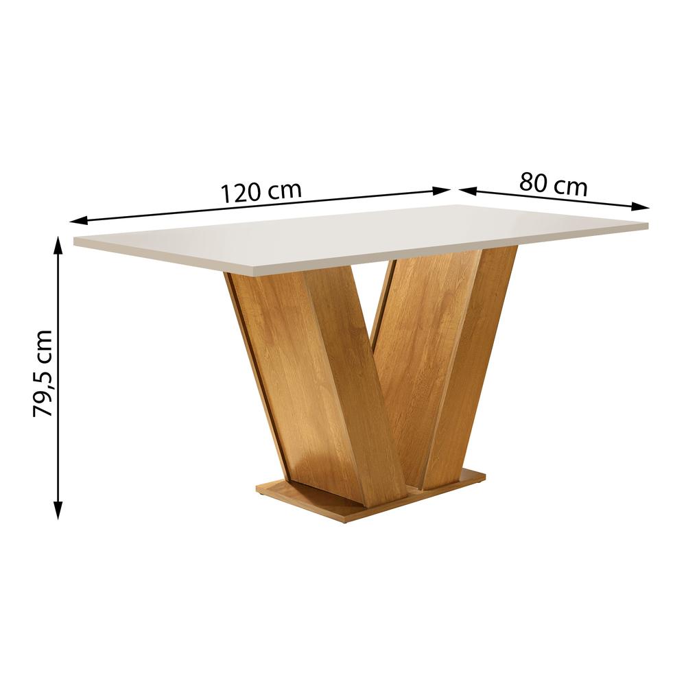 Conjunto Sala De Jantar Mesa Classic 1,20X0,90 Com 4 Cadeiras Classic Ype - Cel Móveis
