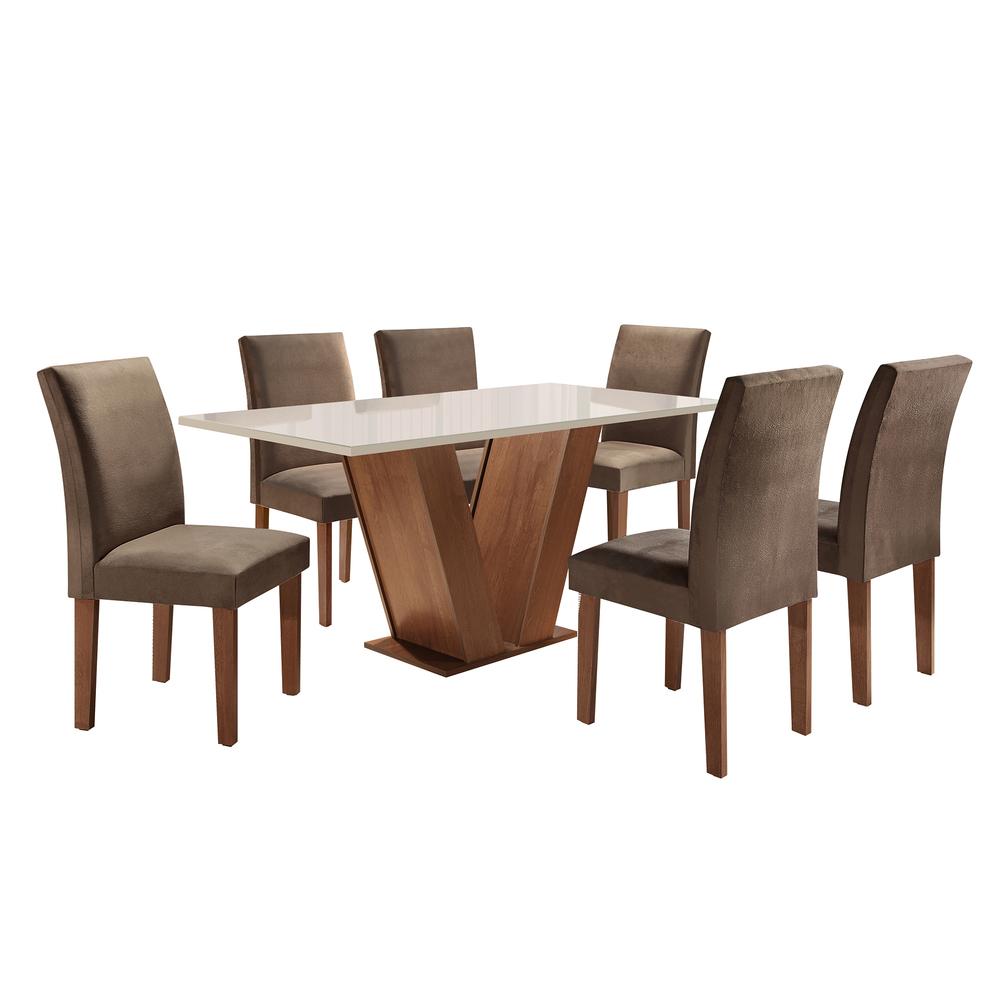 Conjunto Sala De Jantar Mesa Classic 1,60X0,90 Com 6 Cadeiras Classic - Cel Móveis