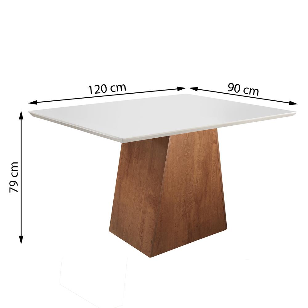 Conjunto Sala De Jantar Mesa Sevilha 1,20X0,90 Com 4 Cadeiras Classic - Chocolate - Cel Móveis