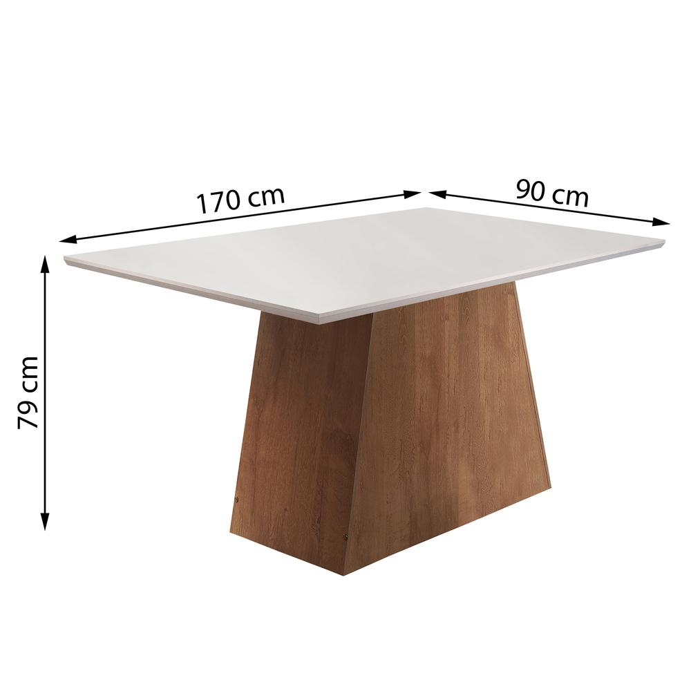 Conjunto Sala De Jantar Mesa Sevilha 1,70X0,90 Com 6 Cadeiras Classic - Chocolate - Cel Móveis