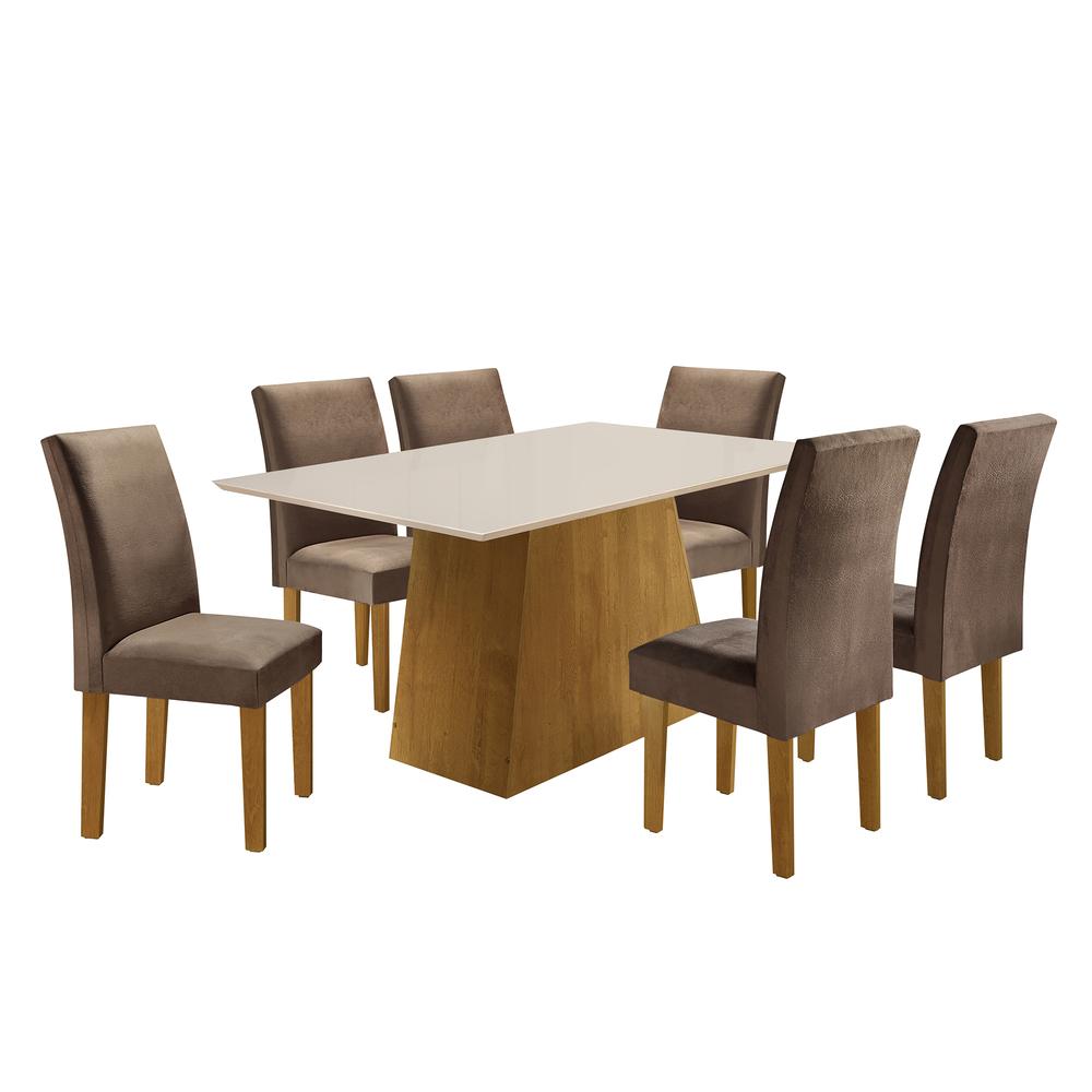 Conjunto Sala De Jantar Mesa Sevilha 1,70X0,90 Com 6 Cadeiras Classic - Ype - Cel Móveis
