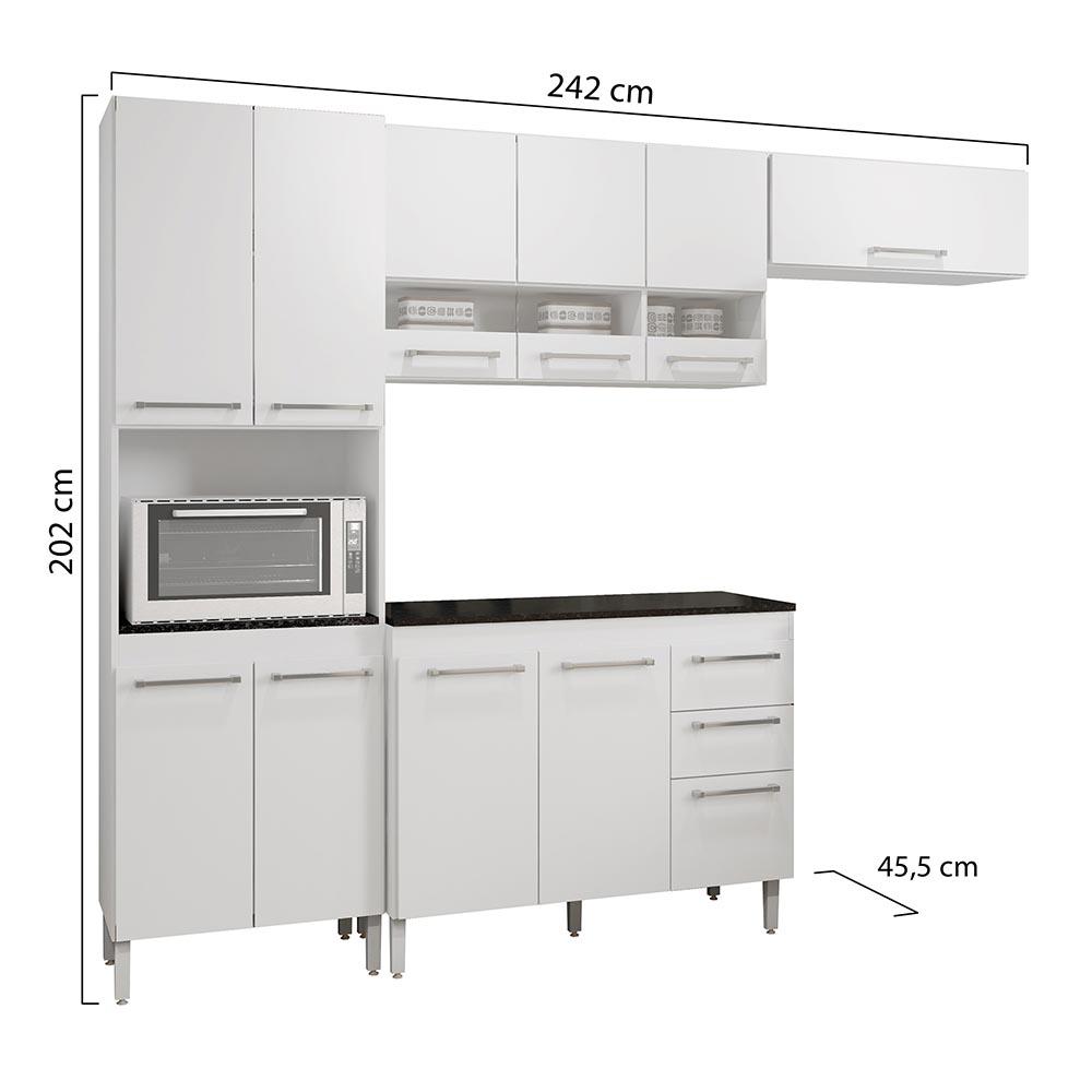 Cozinha Completa 4 peças Alice Branco - CHF