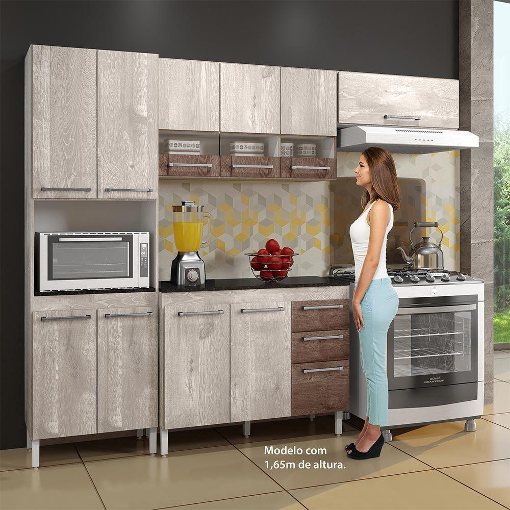 Cozinha Completa 4 peças Alice Champanhe/Chocolate - CHF