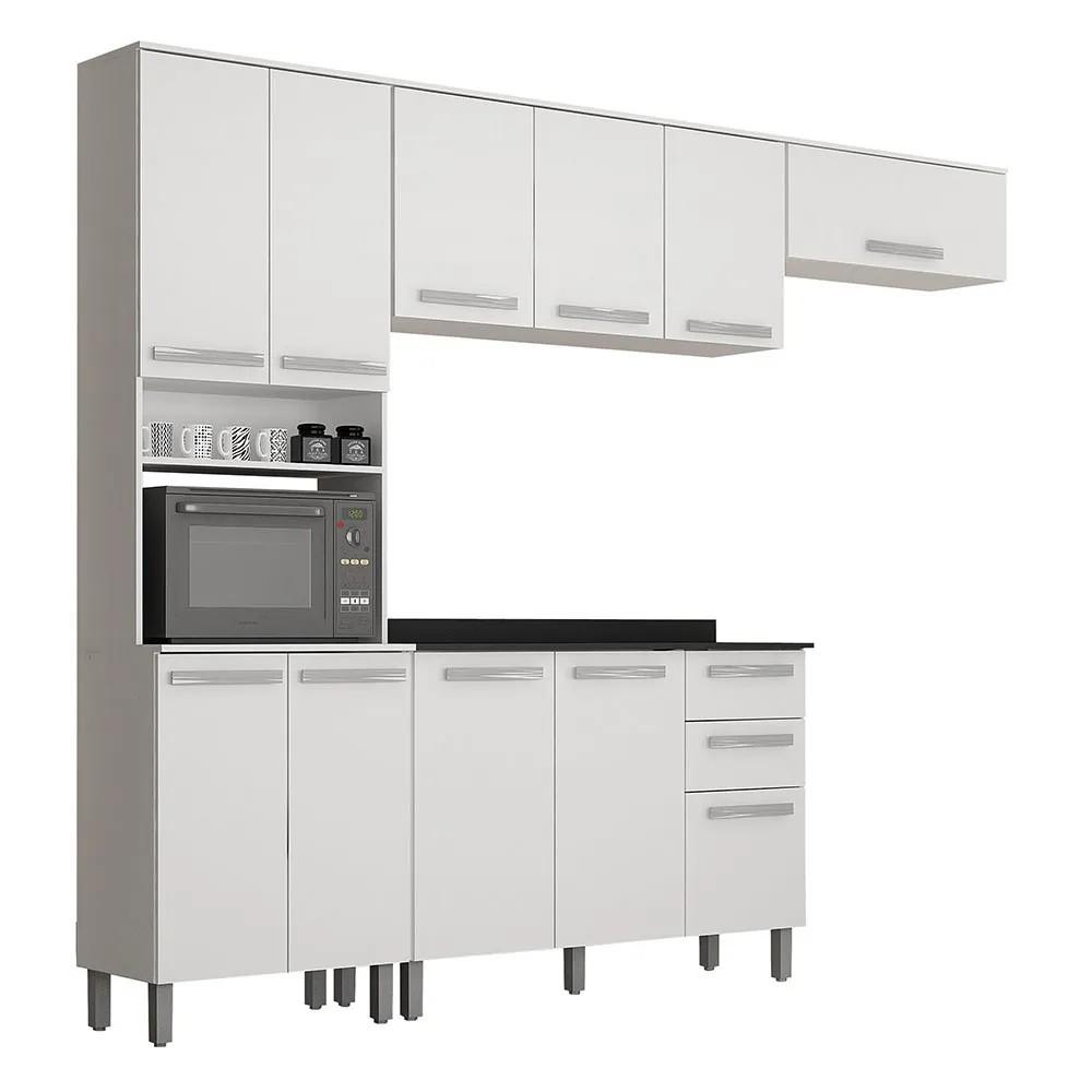 Cozinha Completa Alpes 4 Peças Branco - Valdemóveis