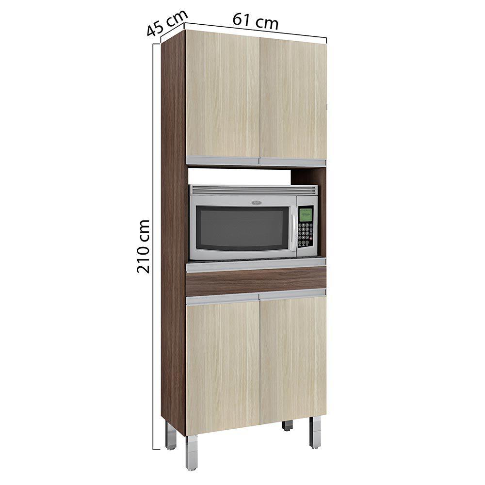 Cozinha Completa c/ Tampo Turmalina Mocaccino/Teka - CHF