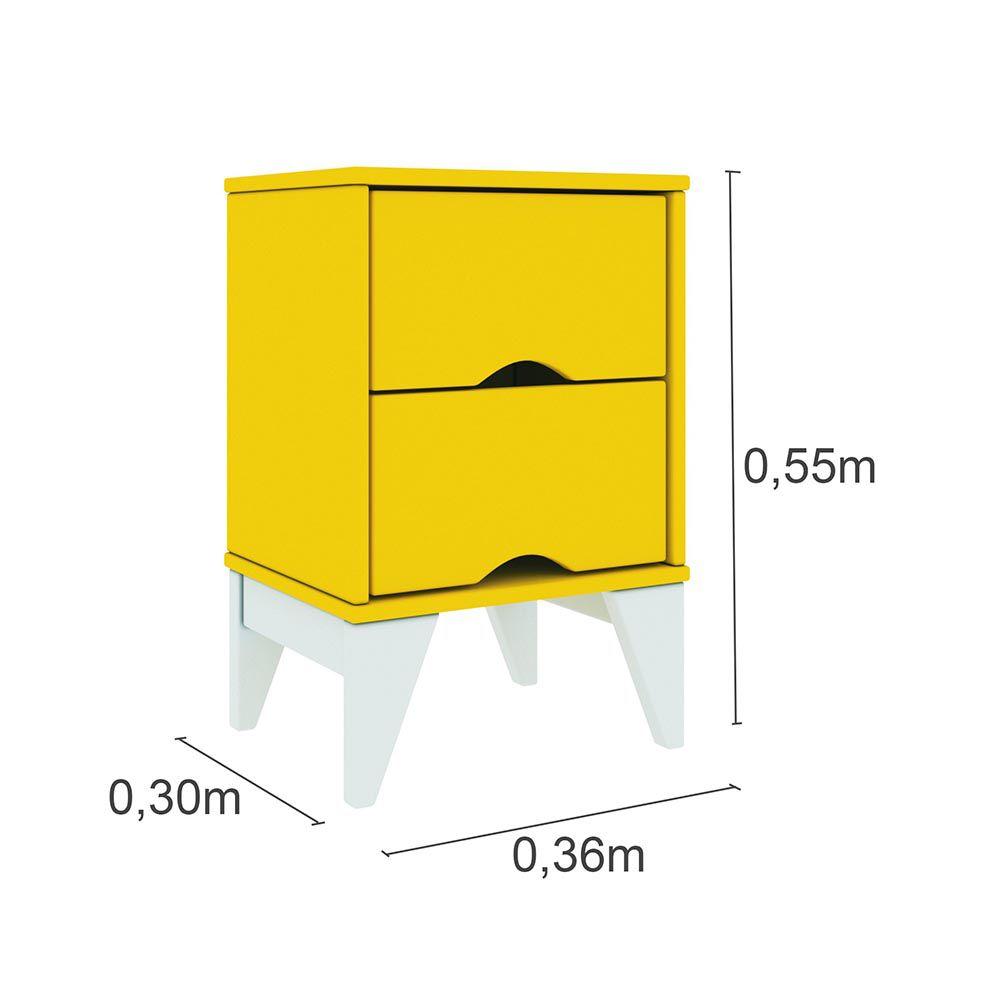 Criado 2 Gavetas Twister - Tcil Móveis