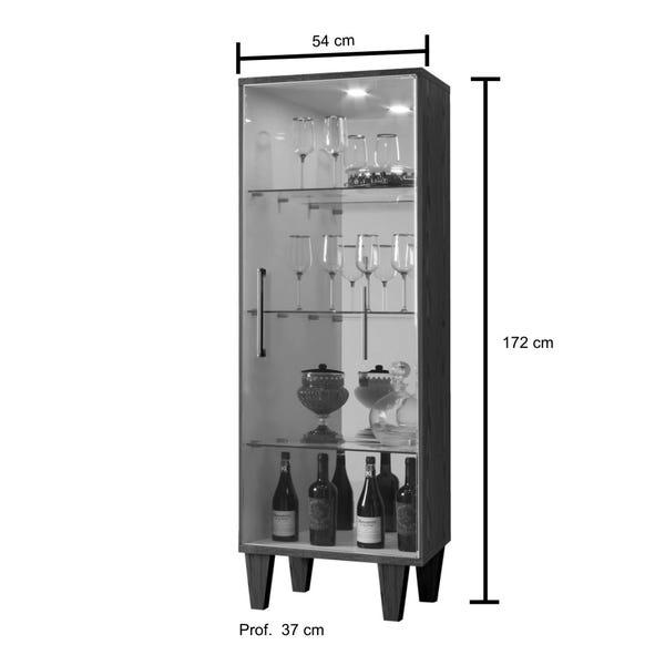 Cristaleira 1 Porta de Vidro Safira Canion/OffWhite Mavaular