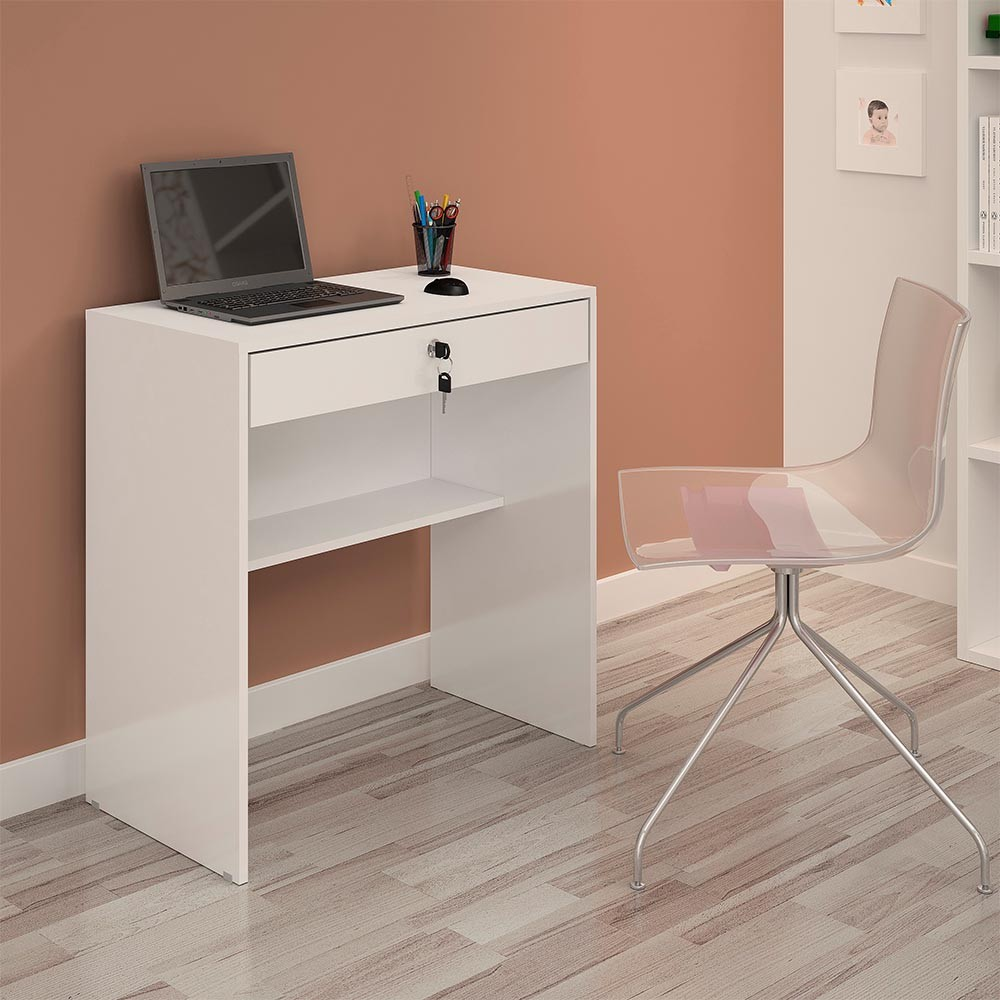 Escrivaninha 1 Gaveta Andorinha Branco JCM Móveis