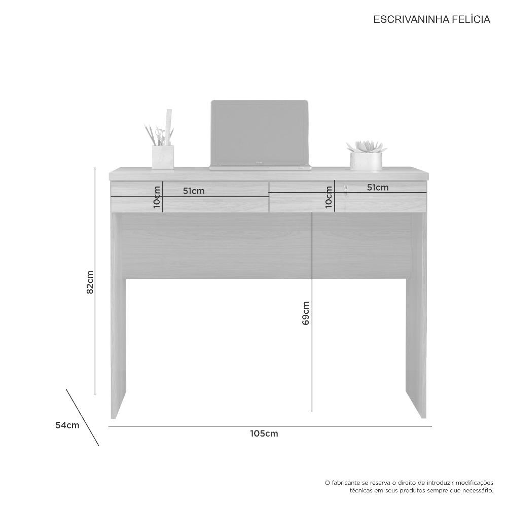 Escrivaninha Felicia Branco - JCM Movelaria