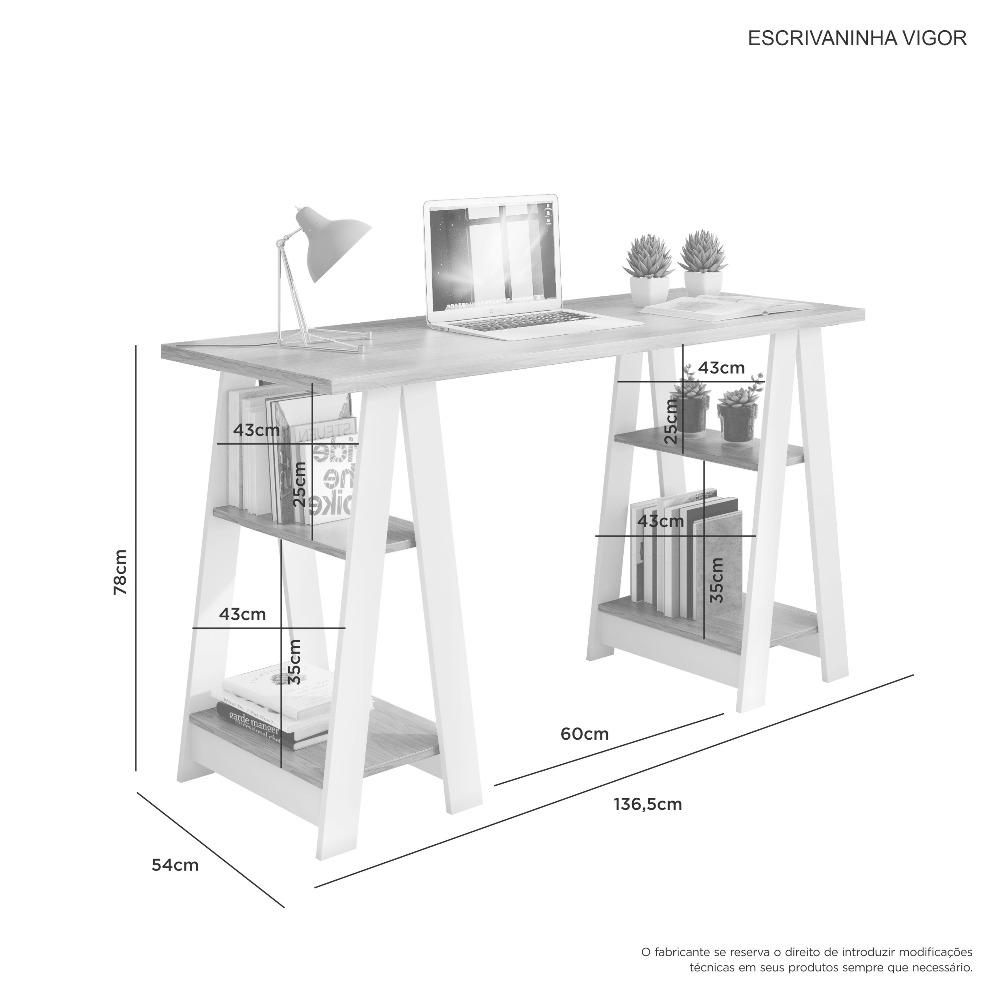 Escrivaninha Vigor Branco - JCM Movelaria