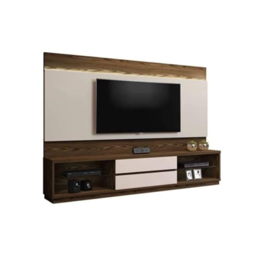 Estante com Painel Home Istambul sem Espelho para TV até 65 Polegadas - Canion Soft /Off White - Mavaular
