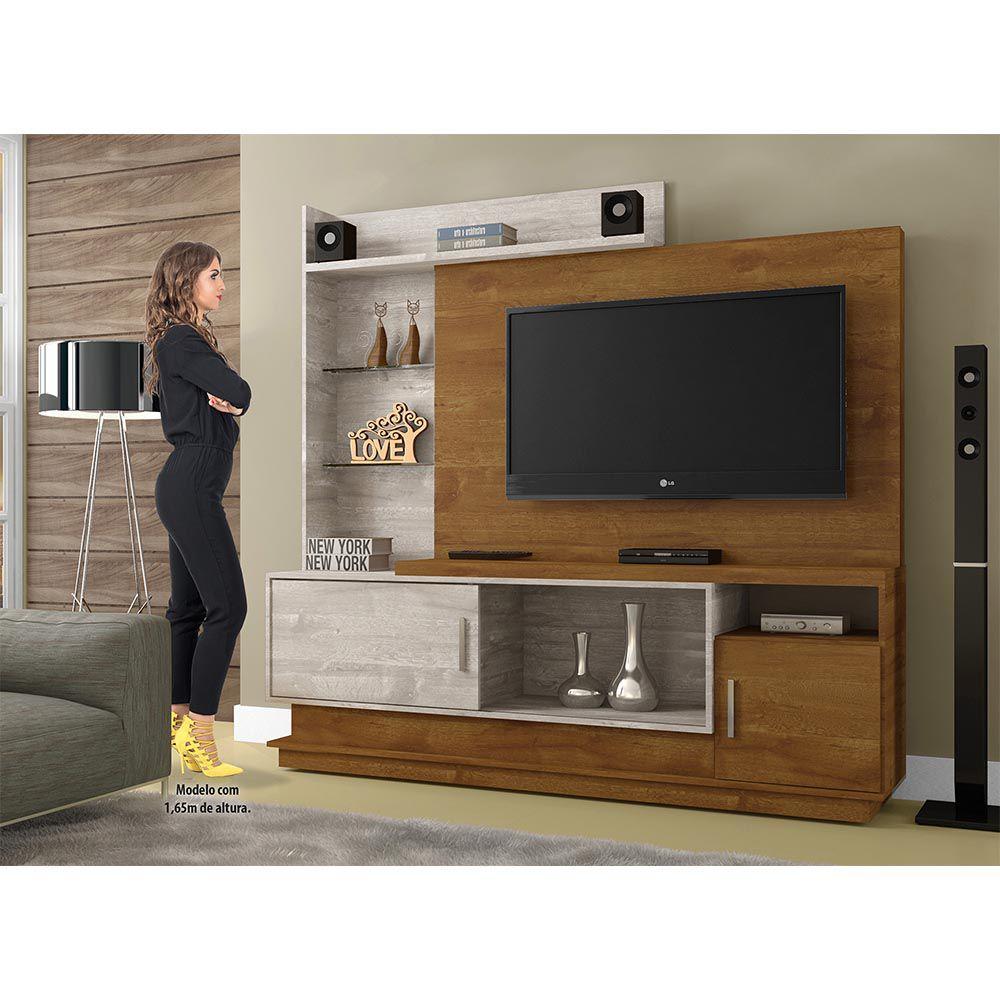 Estante Home para TV Adustina Caramelo/Champanhe - CHF