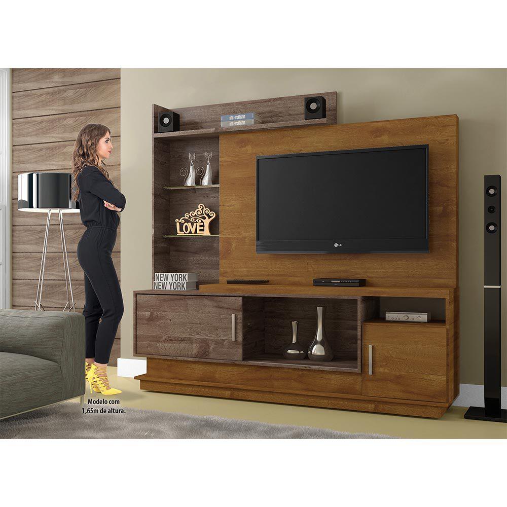 Estante Home para TV Adustina Caramelo/Chocolate - CHF