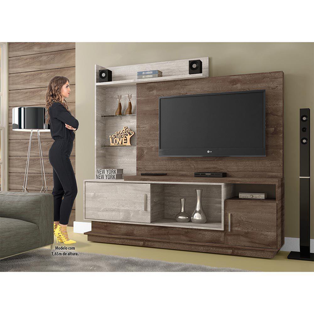 Estante Home para TV Adustina Chocolate/Champanhe - CHF
