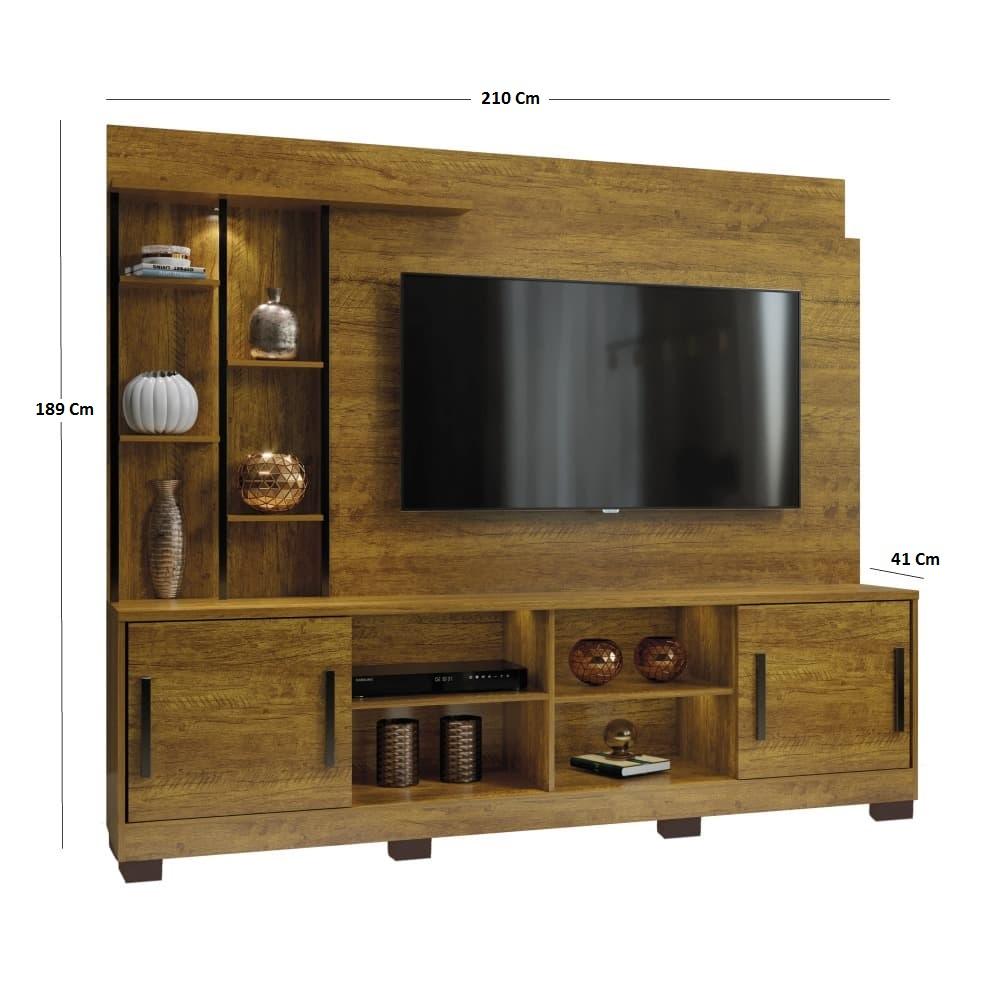 Estante Home para TV até 60 Polegadas Premium com metalon -  Mel - Mavaular