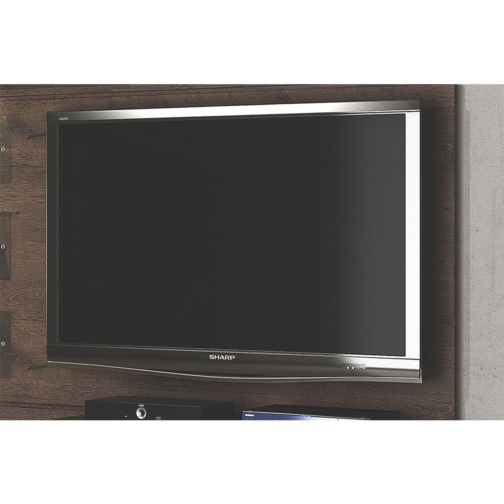 Estante Home Theater Suspenso para TV Até 60 Polegadas Interativo Castanho - Valdemóveis