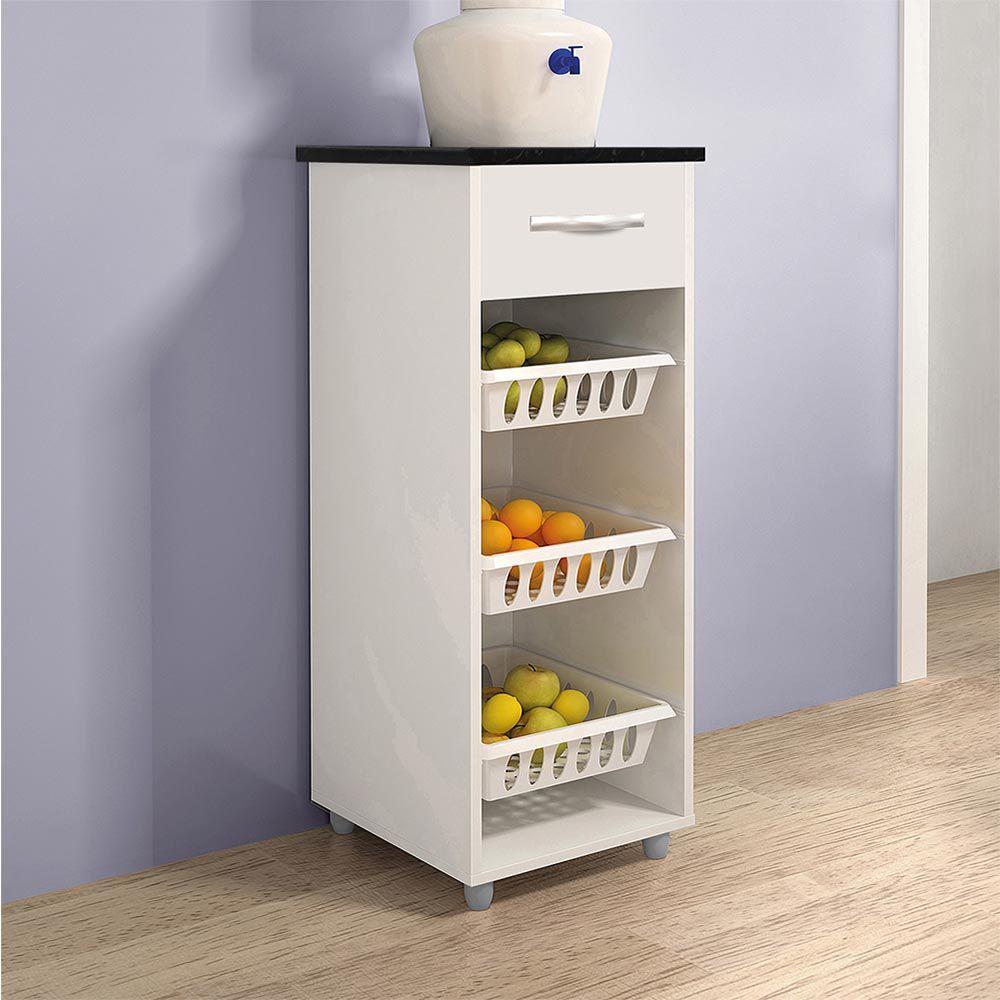 Fruteira Mini Croácia Branco/Caramelo/Branco - CHF