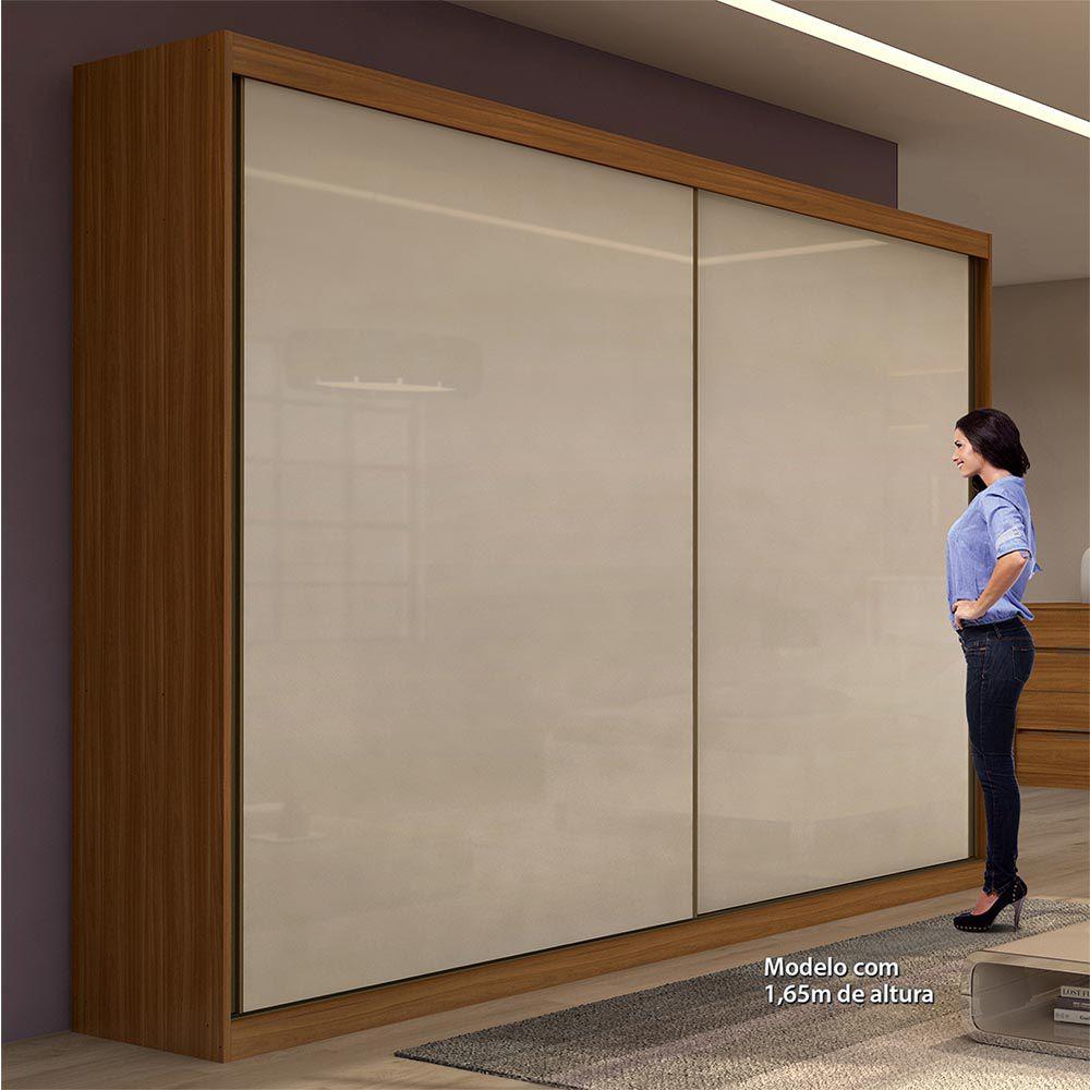 Guarda Roupa Casal sem Espelho 2 Portas 4 Gavetas Royal Rovere Naturale/Off White - Lopas
