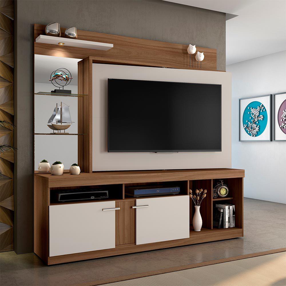 """Home Brasil P/ TV de até 60"""" Rovere/Off JCM Movelaria"""