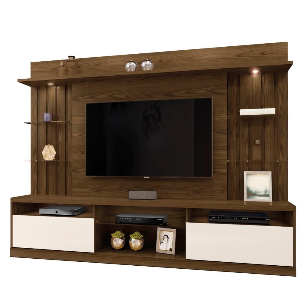 """Home TV até 58"""" Amsterdã - Canion Soft /Off White - Mavaular"""