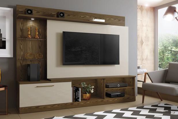 """Home TV até 60"""" Florida  - Canion Soft /Off White - Mavaular"""