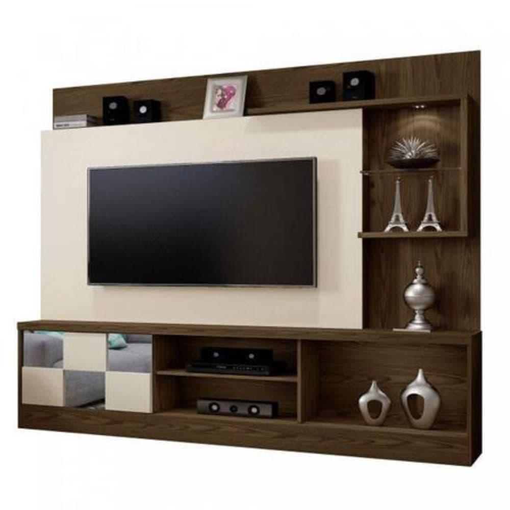 """Home TV até 65"""" c/ Esp Dinamarca Canion/Off White - Mavaular"""