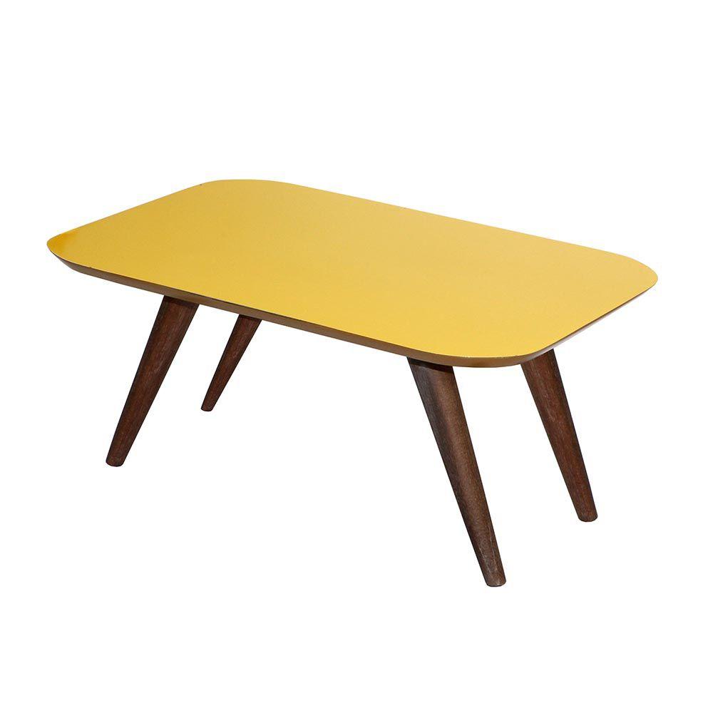 Mesa de Centro Diamantina Retrô Amarelo - CHF