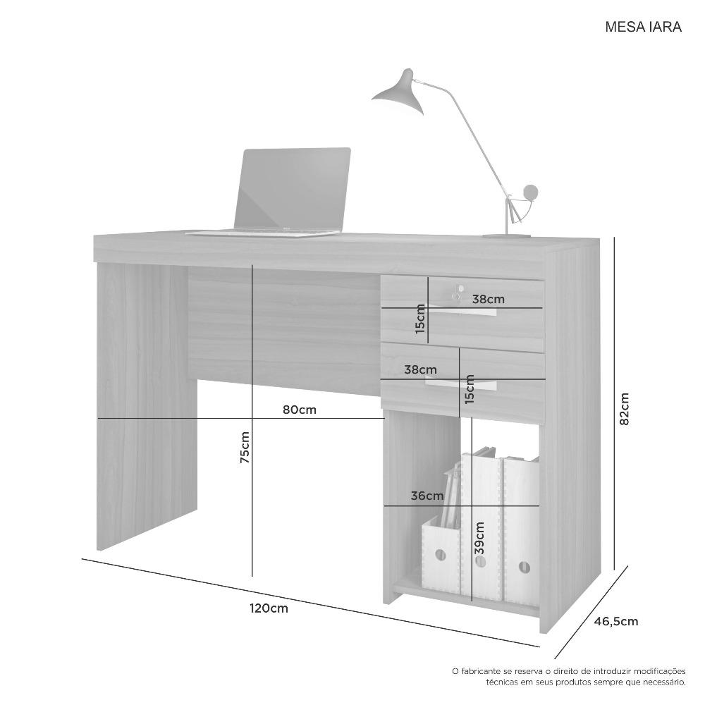 Mesa Office Iara Nobre Soft - JCM Movelaria
