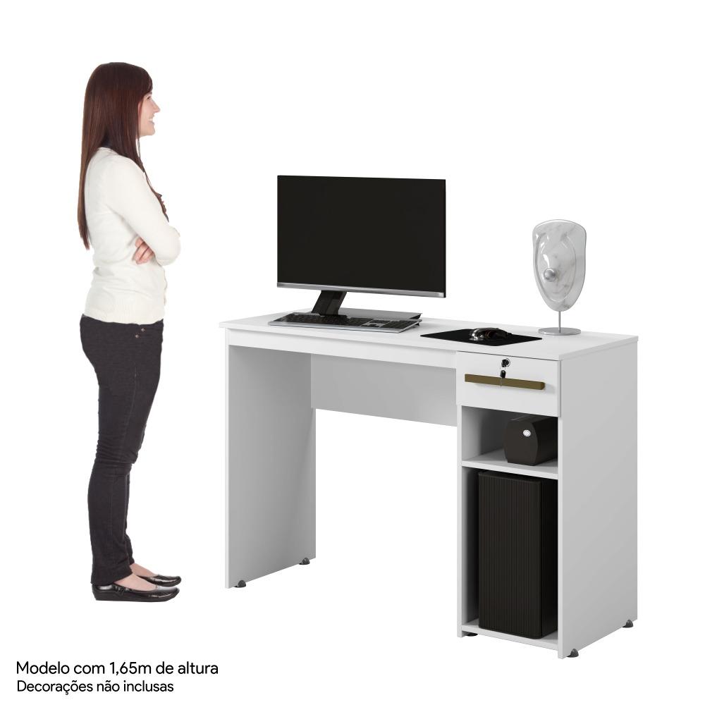 Mesa Office Veneza Branco - Kaiki Móveis