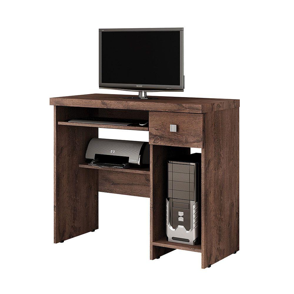 Mesa para Computador 1 Gaveta System Castanho - Valdemóveis