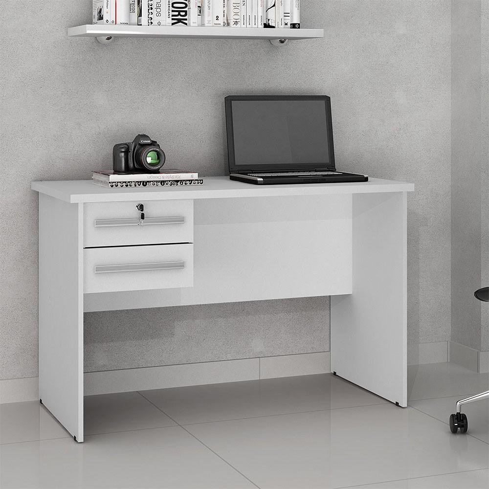 Mesa para Computador 2 Gavetas Byte Branco - Valdemóveis