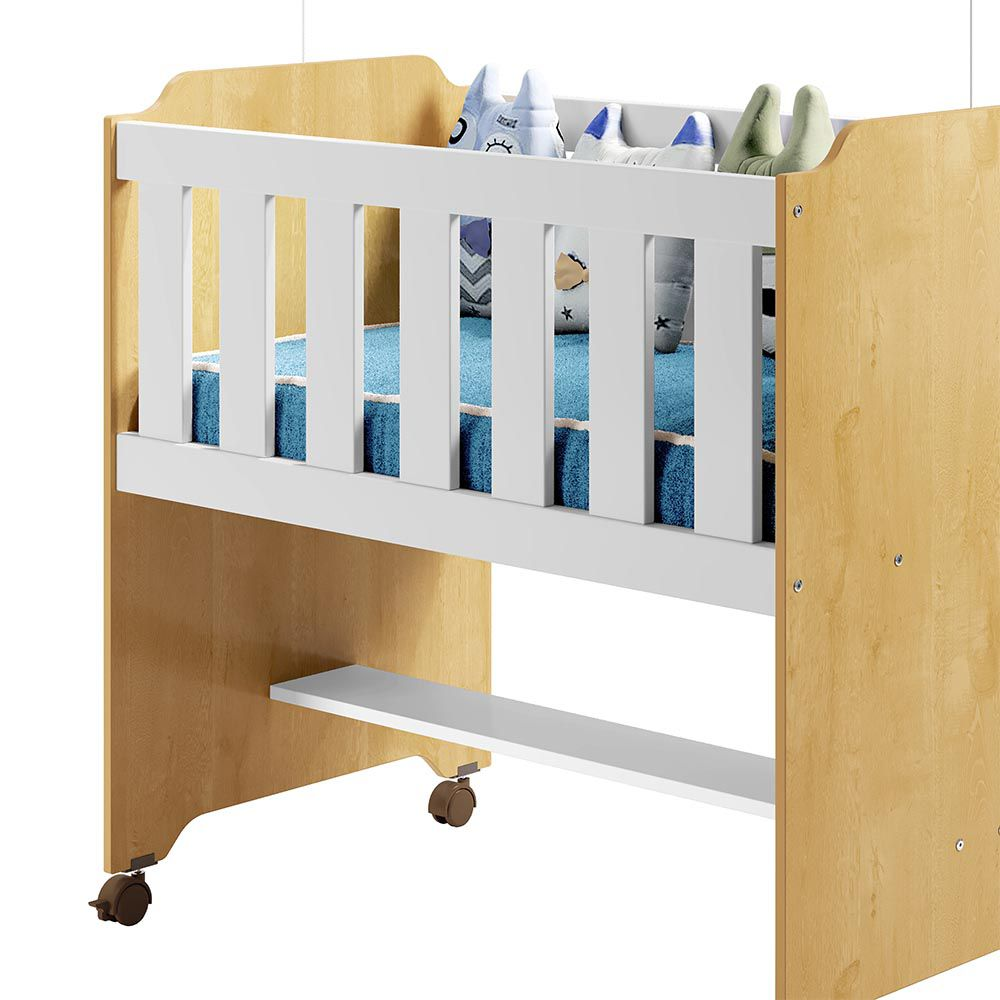 Miniberço Tigus Baby Branco/Naturale - Tigus Baby